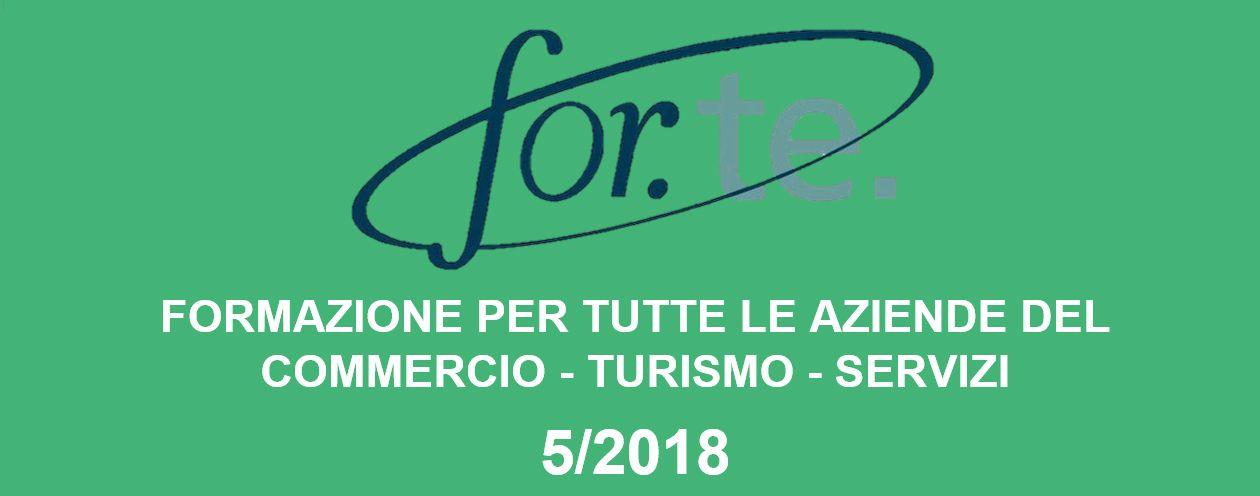 FORMAZIONE PER TUTTE LE AZIENDE DEL COMMERCIO – TURISMO - SERVIZI Avviso 5/2018